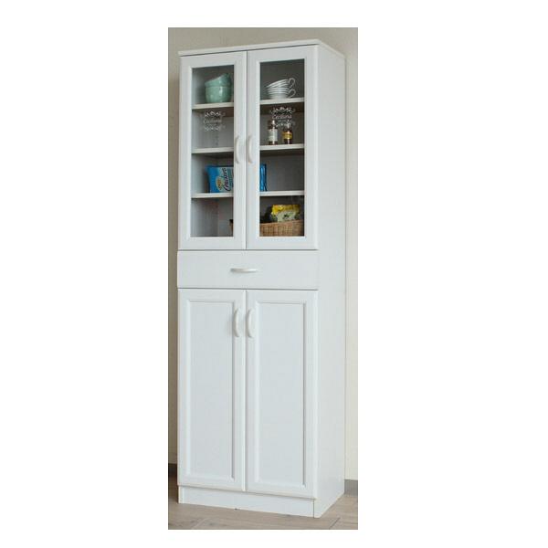 白井産業 台所回りの食器や小物をひとまとめに収納出来るカップボード(深型) 1台 (直送品)