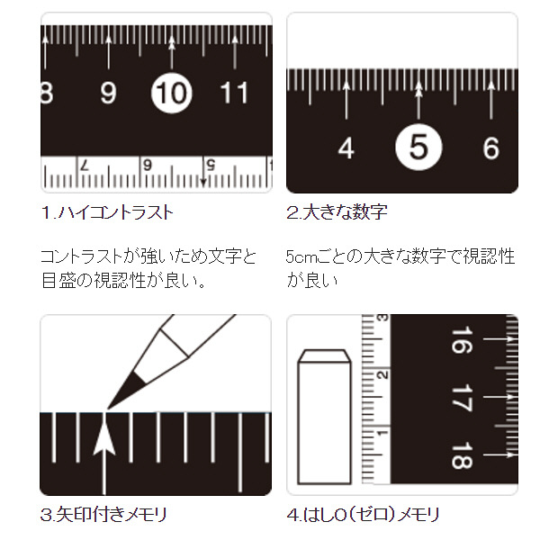 レイメイ藤井 定規 見やすい白黒定規 白 15cm APJ188W 10個(直送品)