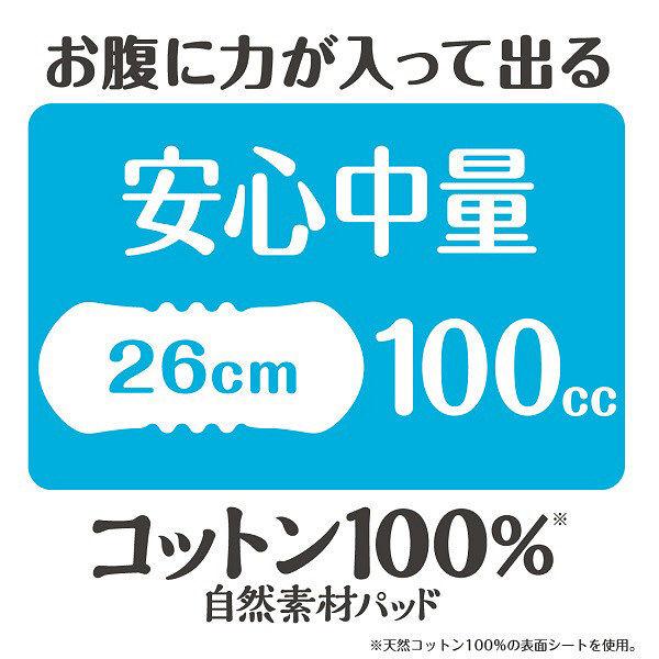 コットン100%パッド安心中量20枚×3
