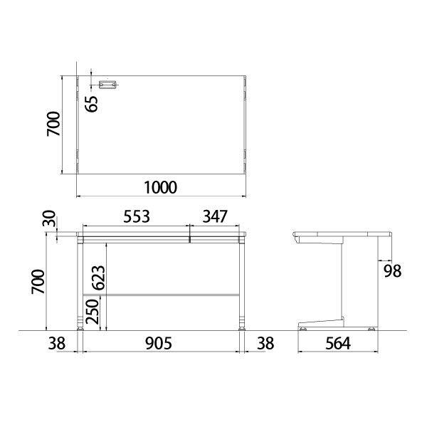 オカムラ 平机W100×D70cm