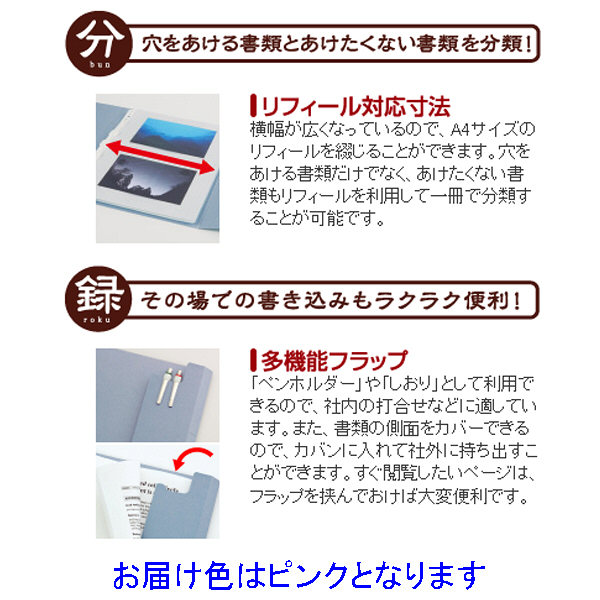 フラットファイル 見分録 ピンク 30冊