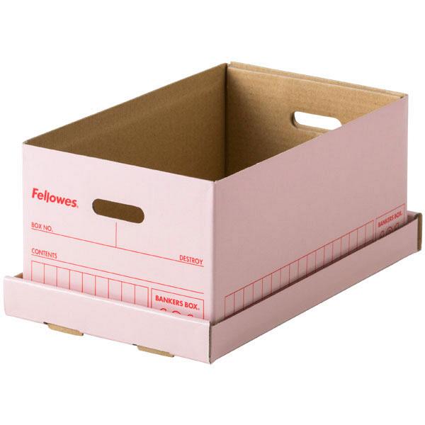 バンカーズボックスミニ 101 ピンク 3枚 フェローズジャパン 外寸:幅105×奥行170×高さ75mm