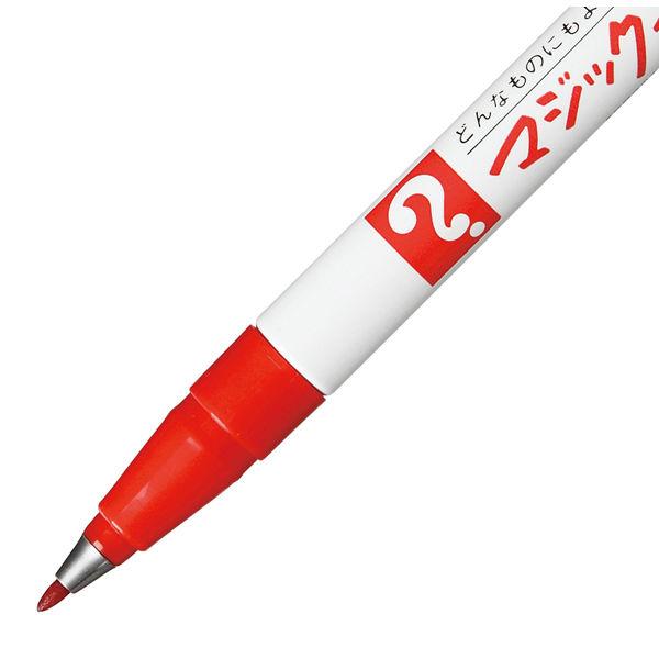 油性ペン マジックインキNo.700 極細 赤 寺西化学工業 M700-T2