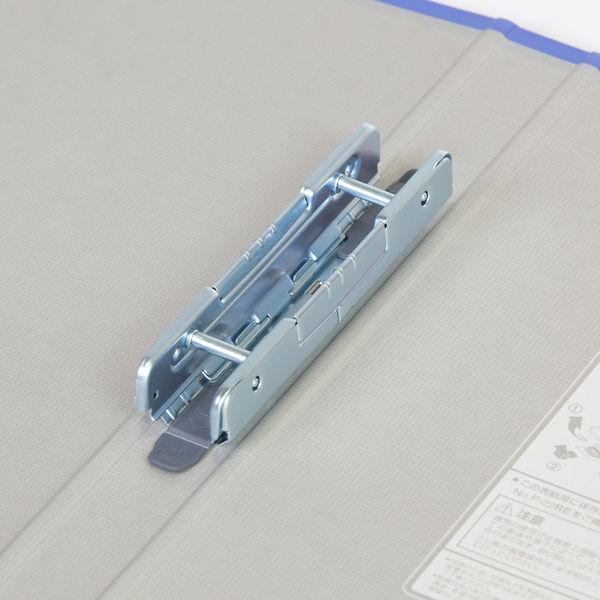 キングファイル スーパードッチ 脱着イージー A4タテ とじ厚20mm グレー 10冊 キングジム 両開きパイプファイル 2472Aクレ