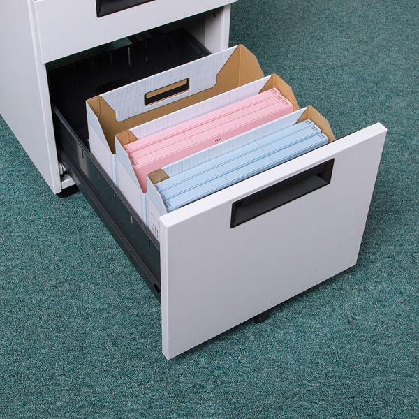 ボックスファイル A4横 ブルー 5個