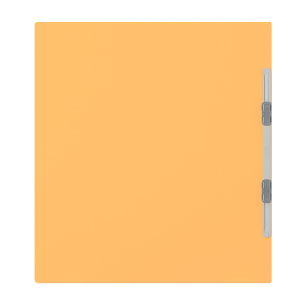 プラス フラットファイル厚とじ A4タテ 3冊 イエロー No.021NW 樹脂製とじ具