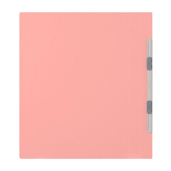 フラットファイル厚とじ A4縦 桃 3冊