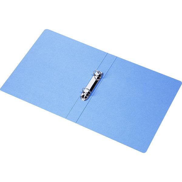 ビュートン エコノミーリングファイル2穴 A4タテ ブルー 1箱(10冊入)
