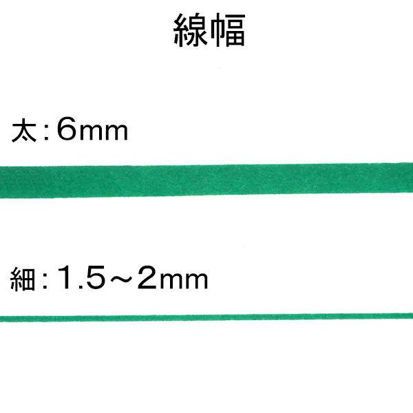 油性ペン ハイマッキー 太/細 緑