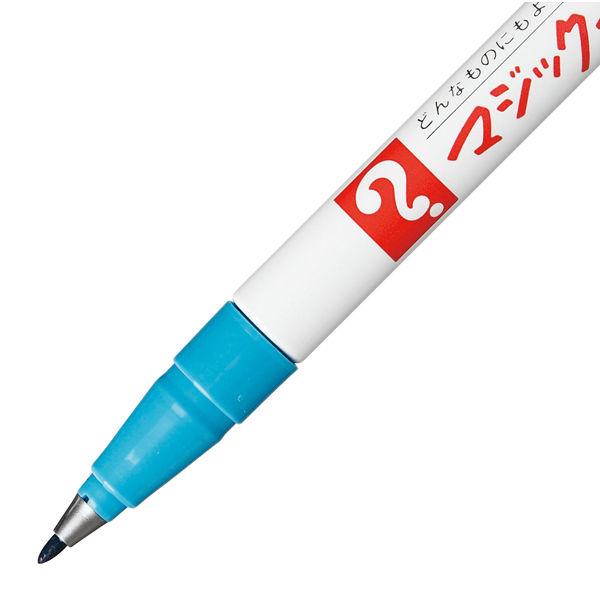 油性ペン マジックインキ 極細 空色