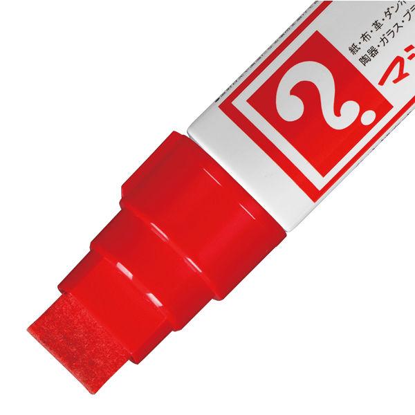油性ペン マジックインキ 極太 赤 寺西化学工業 MGD-T2