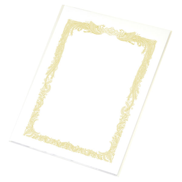 タカ印 OA賞状用紙 白地 A4縦型ヨコ書き 1袋(10枚入)