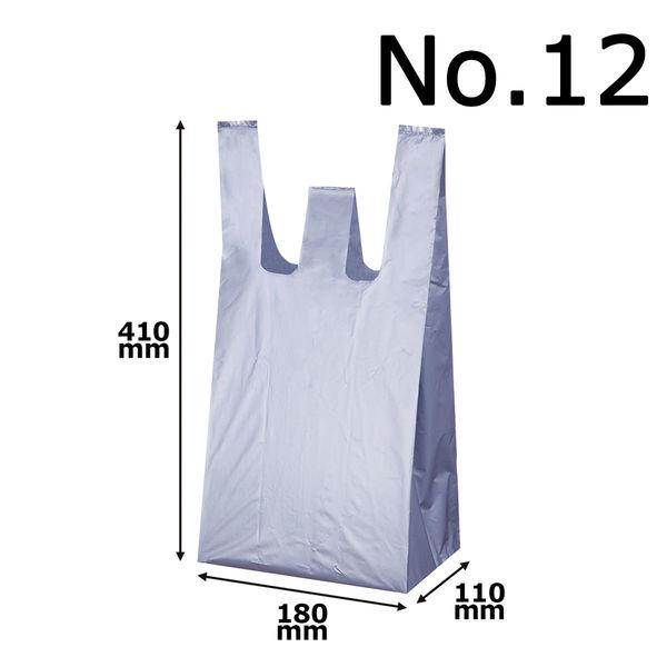 レジ袋 シルバー No.12 100枚