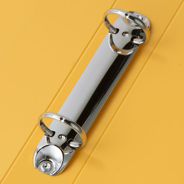 アスクル リングファイル丸型2穴 A4タテ 背幅36mm イエロー 3冊