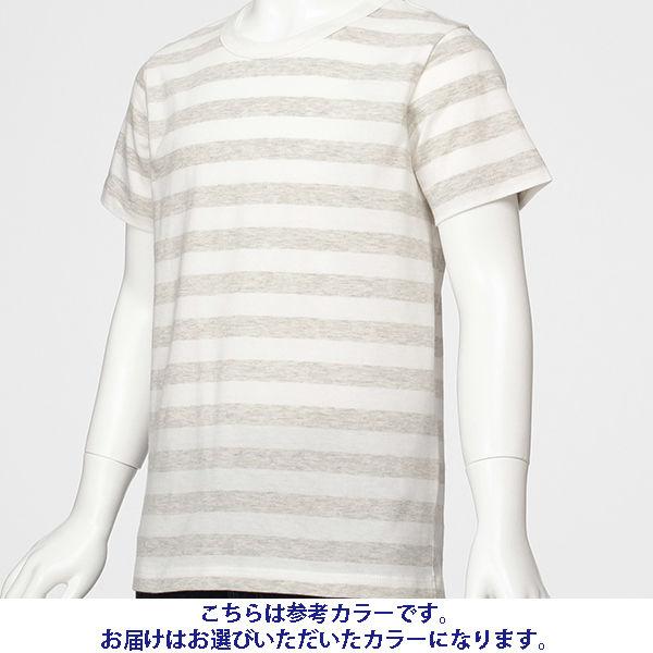 無印 しましま半袖Tシャツ キッズ130