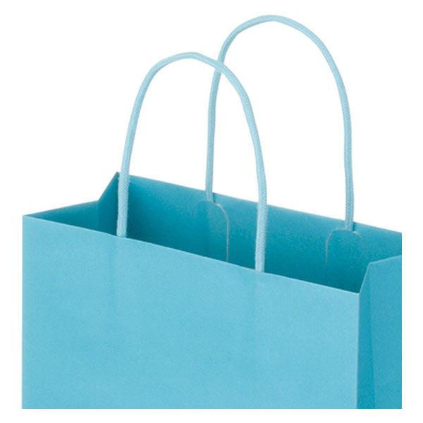 丸紐 手提げ紙袋 ブルー M 10枚