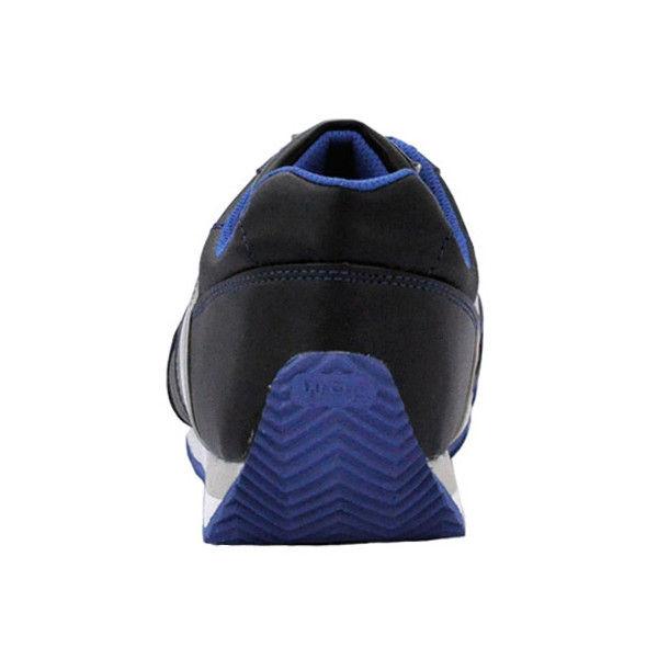 ミドリ安全 先芯入りスニーカー ワークプラスクラシック WPC-111 ブラック/ブルー 25.5cm 2125057810 (直送品)