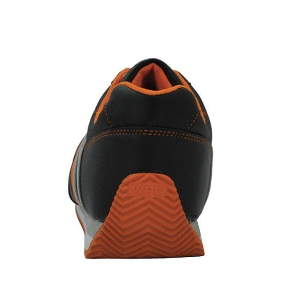 ミドリ安全 先芯入りスニーカー ワークプラスクラシック WPC-111 ブラック/オレンジ 24.0cm 2125057907 (直送品)