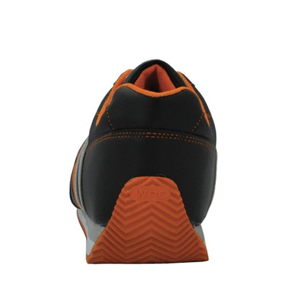 ミドリ安全 先芯入りスニーカー ワークプラスクラシック WPC-111 ブラック/オレンジ 23.5cm 2125057906 (直送品)