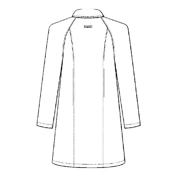 ルコックスポルティフ レディスドクターコート(診察衣) シングル UQW4101 ホワイト L