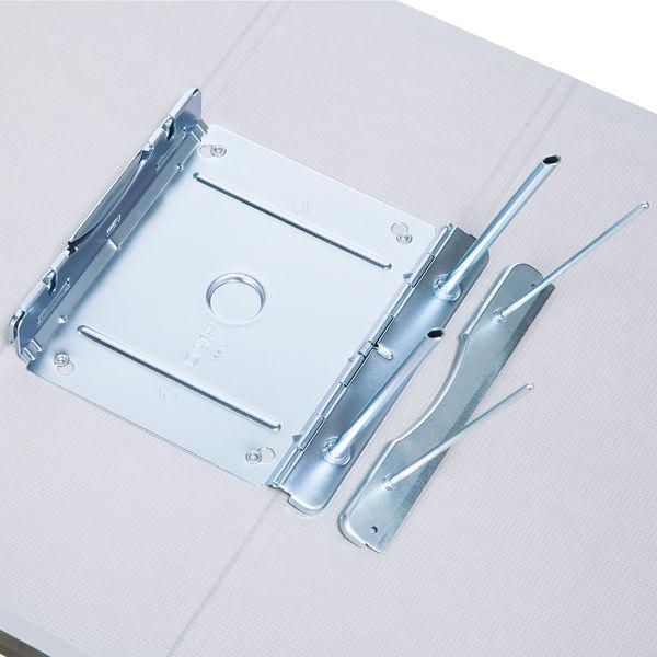 アスクル パイプ式ファイル片開き ベーシックカラー(2穴) A4タテ とじ厚100mm背幅116mm グレー