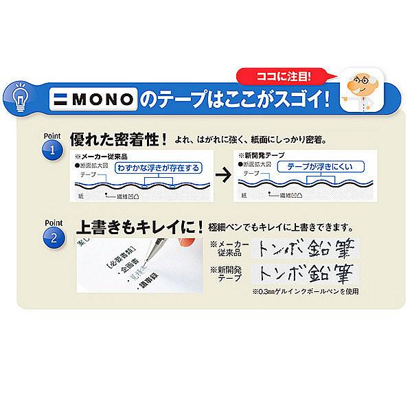 トンボ鉛筆【MONO】修正テープカートリッジ モノCX用 5mm幅×12m CT-CR5 30個