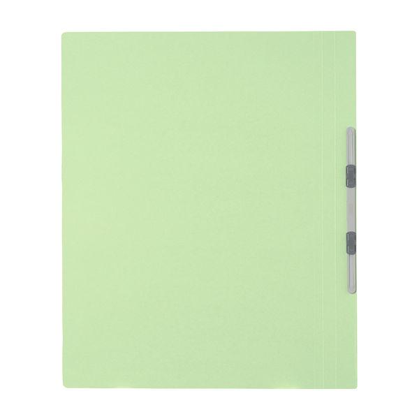 プラス フラットファイル樹脂製とじ具 A3タテ グリーン No.001N 10冊