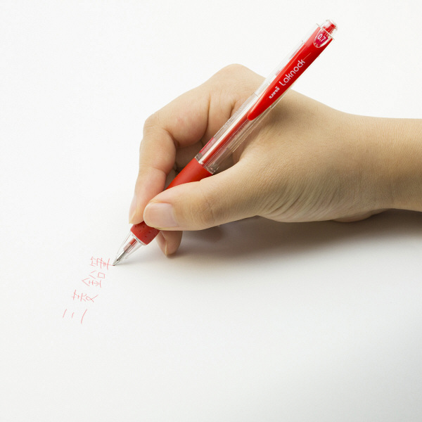 三菱鉛筆(uni) VERY楽ノック SN-100 0.7mm 赤 1箱(10本入)