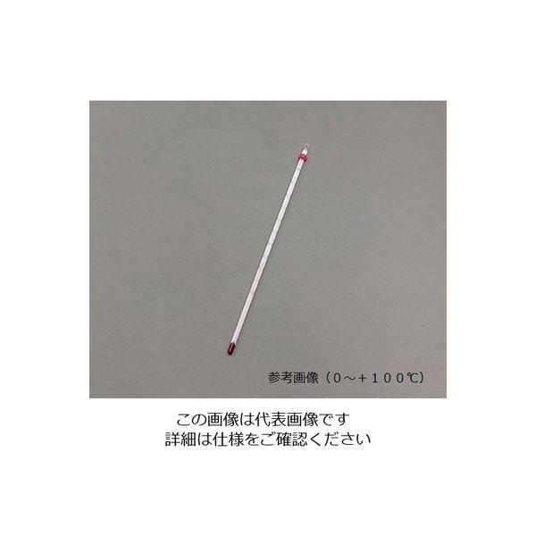 佐藤計量器製作所 赤液棒状温度計 ー20~105℃ 1セット(5個:1個×5本) 1-610-10(直送品)