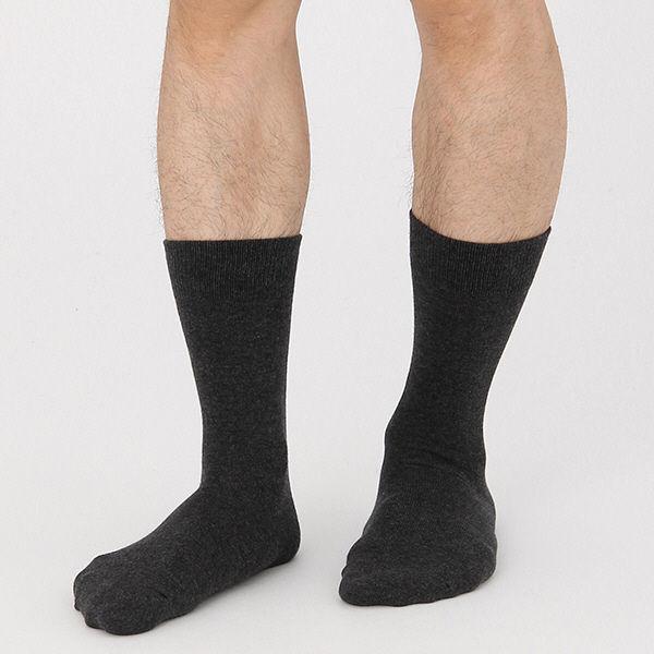 無印 足なり直角靴下 紳士 グレー 3足