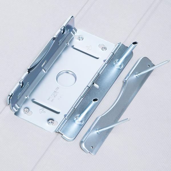 アスクル パイプ式ファイル片開き ベーシックカラー(2穴) A4タテ とじ厚50mm背幅66mm グレー 10冊