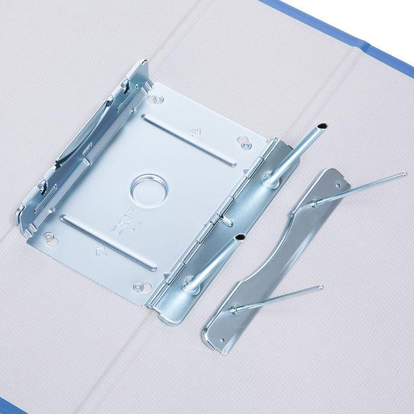 アスクル パイプ式ファイル片開き ベーシックカラー(2穴) A4タテ とじ厚80mm背幅96mm ブルー 10冊