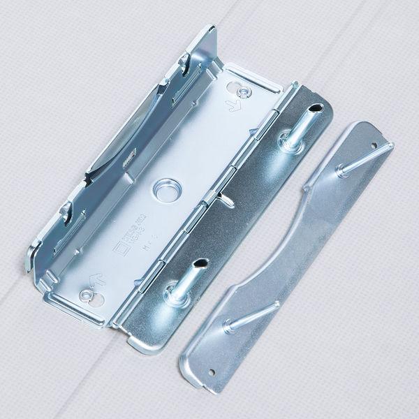 アスクル パイプ式ファイル片開き ベーシックカラー(2穴) A4タテ とじ厚30mm背幅46mm グレー 3冊