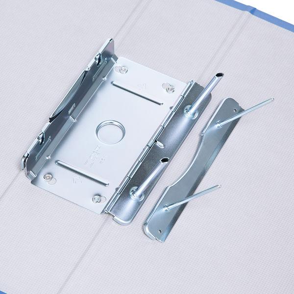 アスクル パイプ式ファイル片開き ベーシックカラー(2穴) A4タテ とじ厚60mm背幅76mm ブルー 3冊