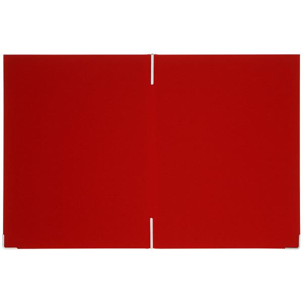 メニューファイル表紙 布貼り A4 10冊 アスクル 赤