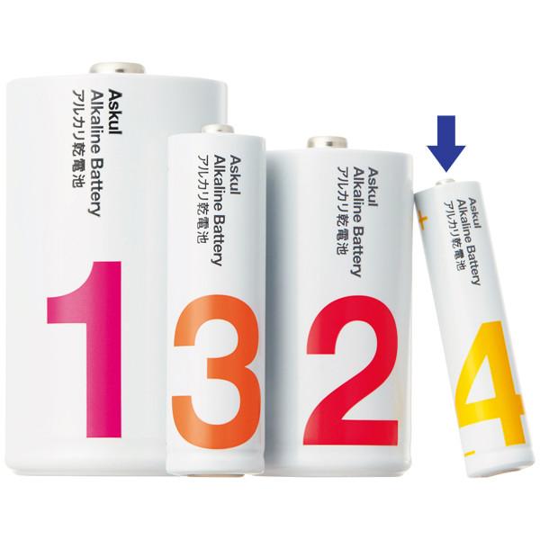 アスクル アルカリ乾電池 単4形400本