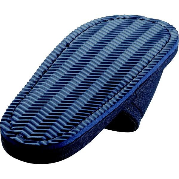 レザー風外縫いスリッパ M ダークブルー 1箱(20足入)