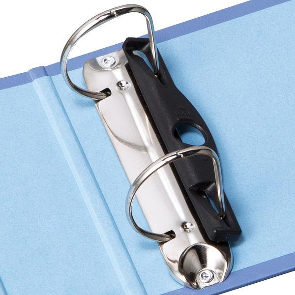 リヒトラブ リングファイル(統一伝票用) D型リングファイル ブルーバイオレット F750 1セット(3冊:1冊×3)