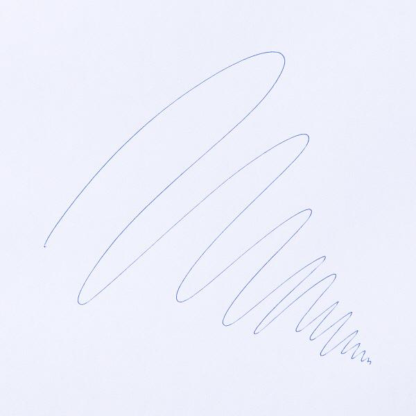 アスクル キャップ式ラバーボールペン 0.7mm 青インク 油性 10本