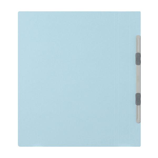 プラス フラットファイル厚とじ A4タテ 3冊 ロイヤルブルー No.021NW 樹脂製とじ具