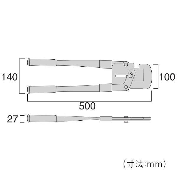 フジ矢 フジ矢 Mバーカッター FMC500 1丁 327ー2231 (直送品)