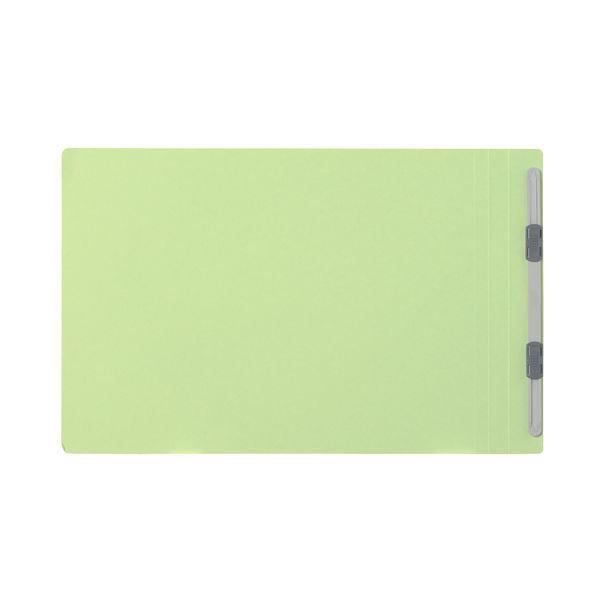 プラス フラットファイル樹脂製とじ具 A4ヨコ グリーン No.022N 100冊