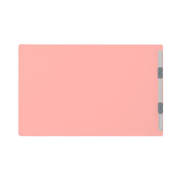 プラス フラットファイル樹脂製とじ具 A4ヨコ ピンク No.022N 100冊