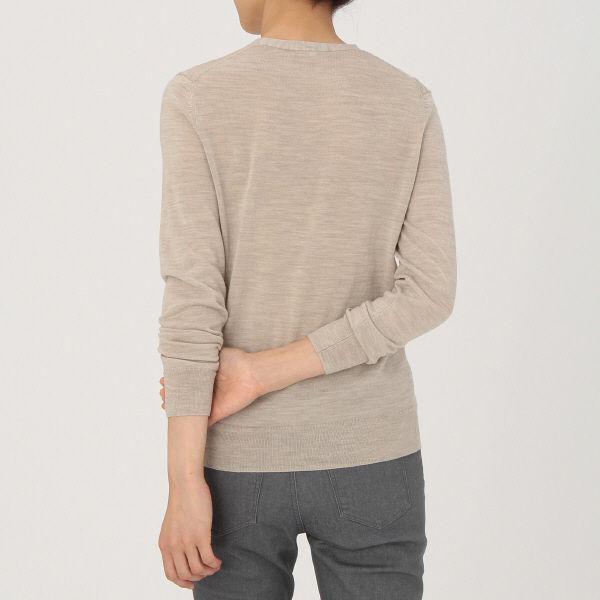 無印 洗えるVネックセーター 婦人 S