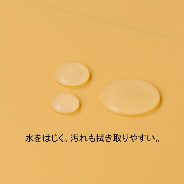 フラットファイルPP 黄 A4タテ 5冊