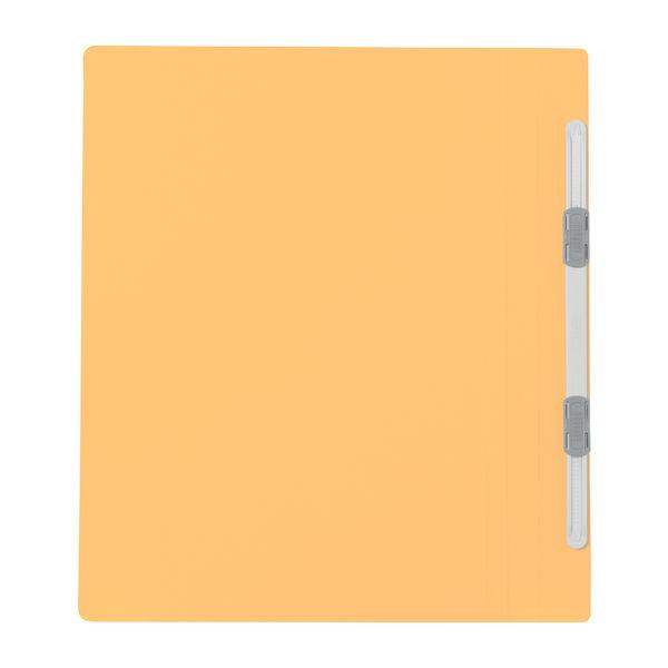 プラス フラットファイル樹脂製とじ具 B5タテ イエロー No.031N 100冊