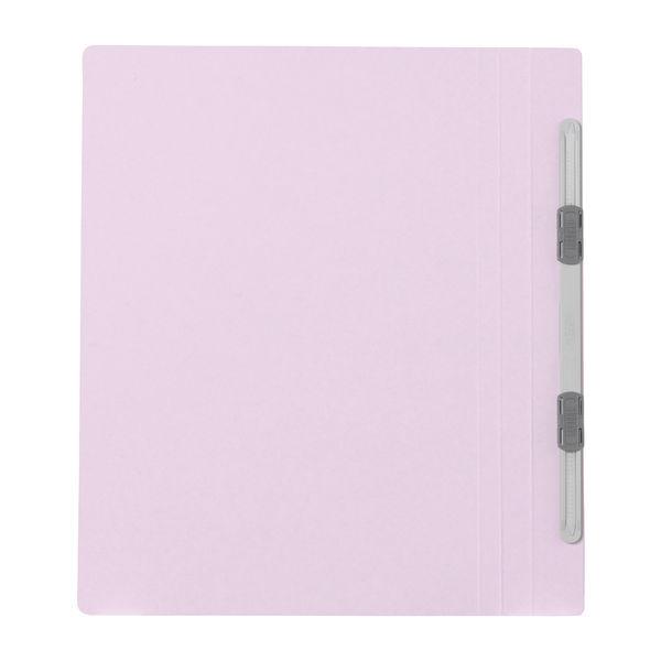 プラス フラットファイル樹脂製とじ具 B5タテ バイオレット No.031N 100冊