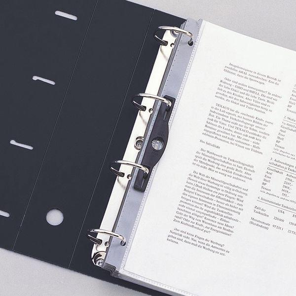 リヒトラブ リクエスト D型リングファイル(A4タテ4穴) リング内径50mm 黒 G1280 1箱(10冊入)