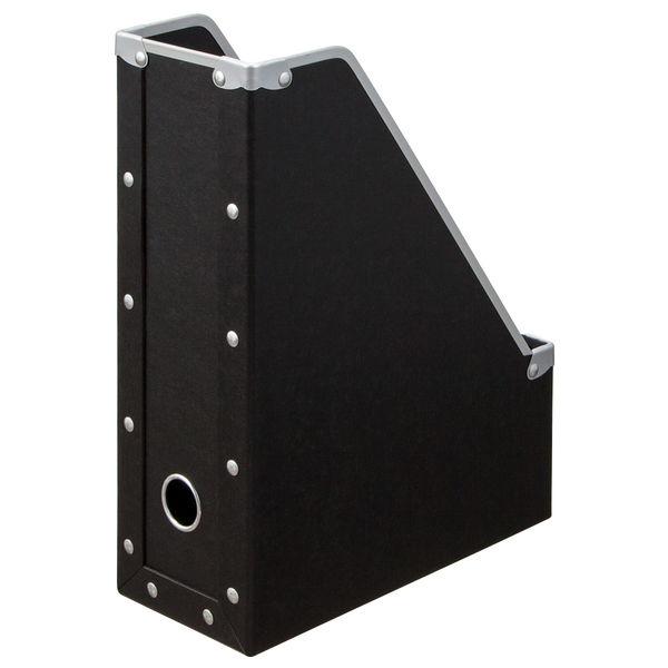 ボックスファイル A4タテ 20個 パルプボード ブラック アスクル