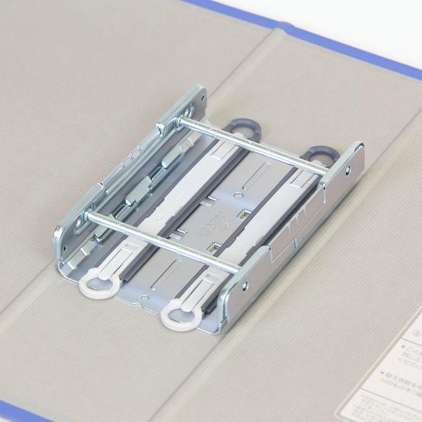 キングファイル スーパードッチ 脱着イージー A4ヨコ とじ厚80mm 青 3冊 キングジム 両開きパイプファイル 2488Aアオ